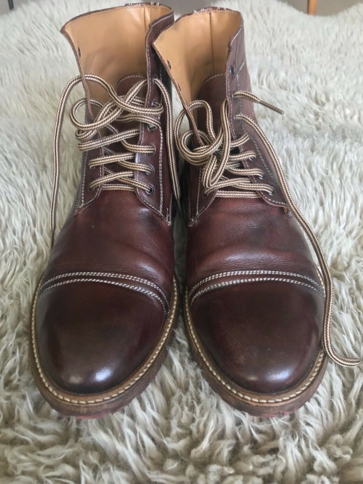 Barney's New York  Brown Leather Boots Men Size 9 US