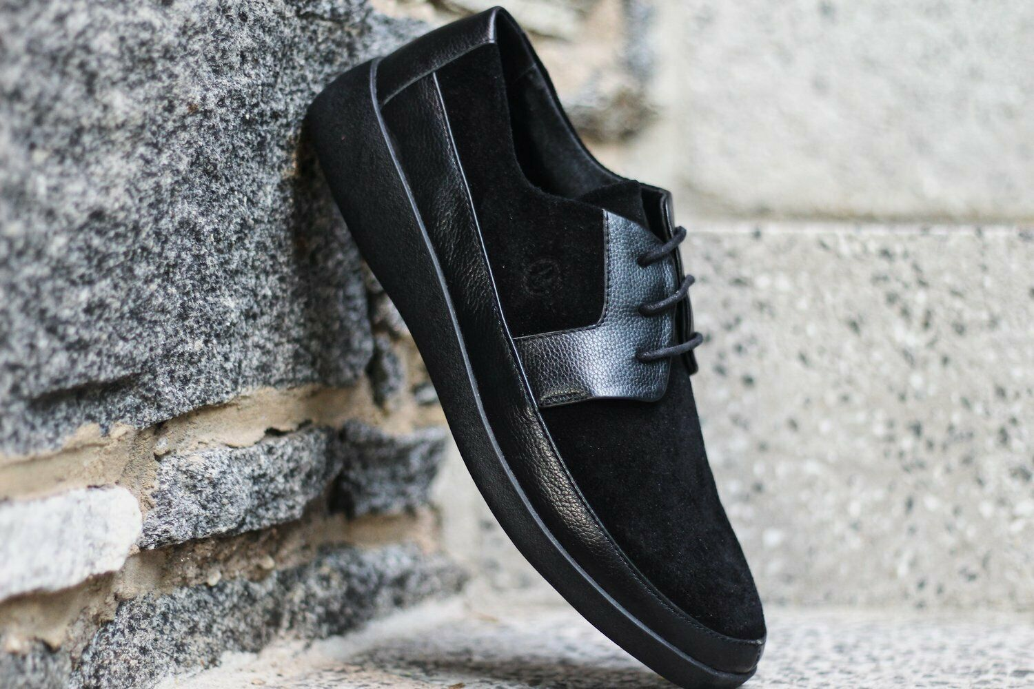 Johnny Famous Men's Black Suede Bally Style Casual Oxford shoes