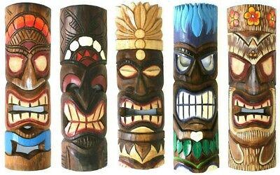 Hawaii Tiki Aloha Maske Wandbrett 30 cm Wandschild Deko Schild Bali Südsee 6