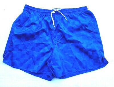 Men/'s Small Don Alleson Navy Blue Checker Nylon Soccer Shorts