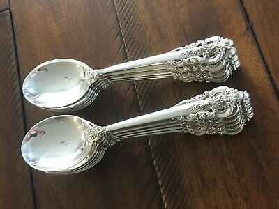 Wallace GRANDE BAROQUE Sterling Cream Soup Spoons Buy 1 or More