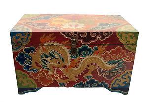 Cofanetto Scatola Buddista Double Dorje Tibet 32cm Artigianato Tibetano 3437