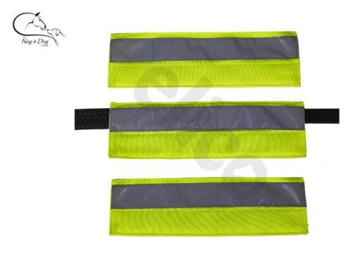 Aurora Bridle Headcollar Sleeves Set 3 HI Vis Fluorescent Yellow SAFETY FREE P/&P