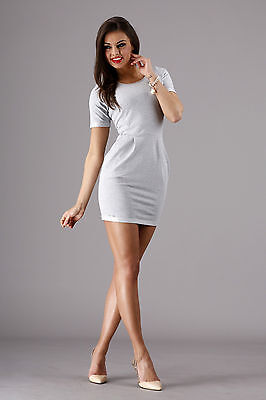Sexy Women's Dress Short Sleeve Crew Neck Wiggle Tunic Sizes 8-14 FA271