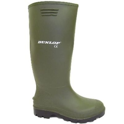 Boys Mens Green Dunlop Wellingtons Snow Rain Boots Sizes Uk 3-12