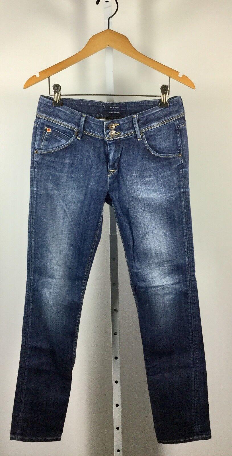 HUDSON Elm Wash Flap Straight Leg Jean Size 28