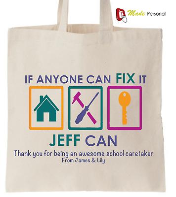 Imparato Personalizzata Grazie Scuola Custode Regalo Cotton Tote Bag-riparalo Design-mostra Il Titolo Originale Buono Per L'Energia E La Milza