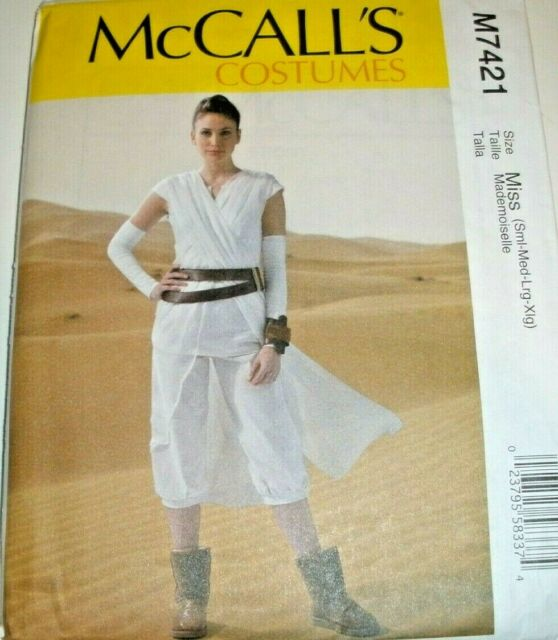 MCCALLS SEWING PATTERN 7421 MISSES STAR WARS REY COSTUME SIZES S-XL 8-22