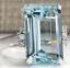 thumbnail 2 - Transparent Sea Blue 14.32CT Aquamarine With White CZ Party Fashion Women's Ring
