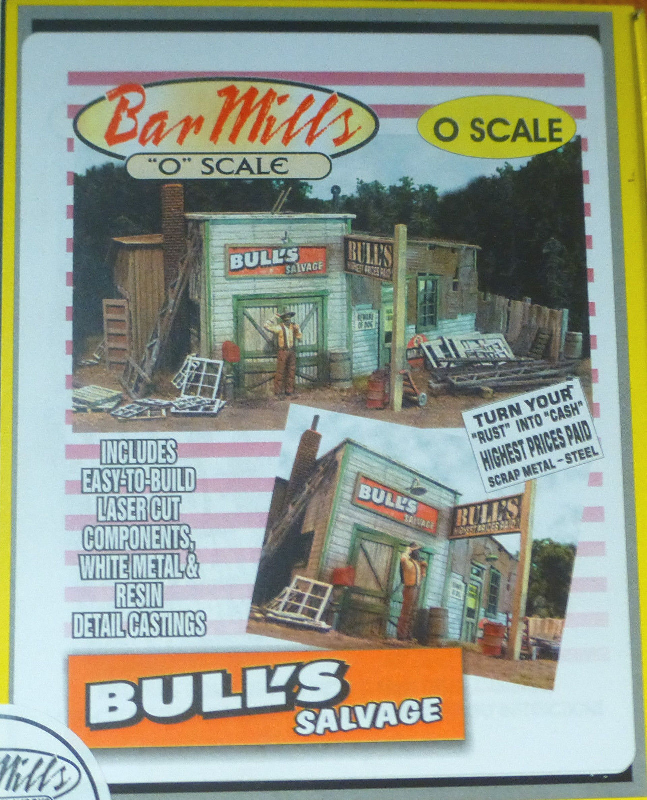 BAR Mills  454 o scale BULL'S Salvage KIT con i segni LaserCut