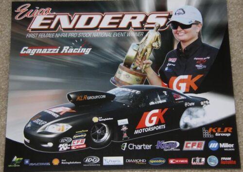 "2012 Erica Enders GK Motorsports /""3rd issued/"" Chevy Cobalt PS NHRA postcard"