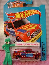 Case D/E 2015 Hot Wheels '67 AUSTIN MINI VAN #27∞Red/Yellow; Union Jack∞Art Cars