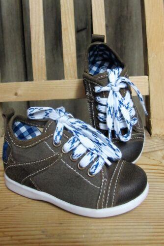 Kids Costume Trachten Scarpe Scarpa marrone blu scuro sneakers Chucks Gr 26-30