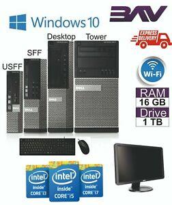 Completo-Dell-hp-i5-Quad-Core-Sff-TORRE-Escritorio-PC-y-Windows-10-TFT-sistema-informatico