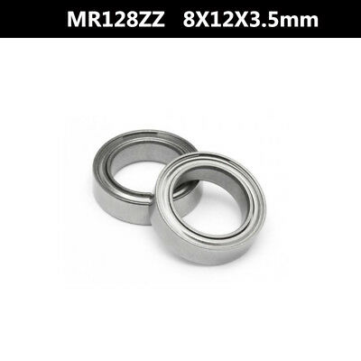 MR128ZZ 10 Pcs 8x12x3.5 mm Metal Shielded Ball Bearing Bearings 8*12*3.5