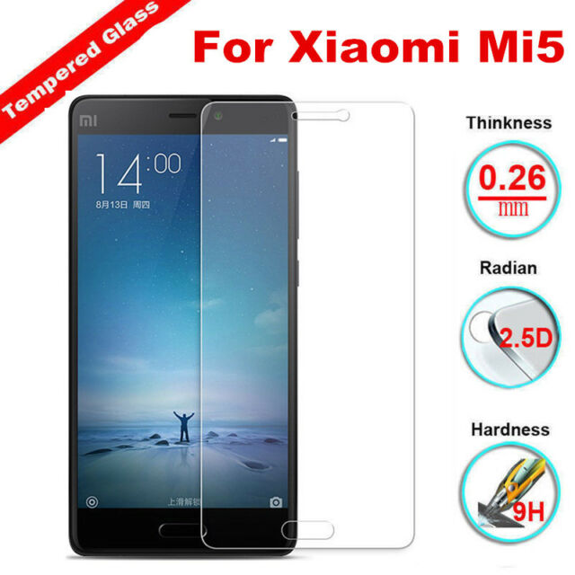 For Xiaomi Mi5 100% Genuine 9H Real Tempered Glass Screen Film Protector Cover