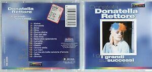 DONATELLA-RETTORE-CD-I-GRANDI-SUCCESSI-Made-in-ITALY-1998-fuori-catal-ORIZZONTE