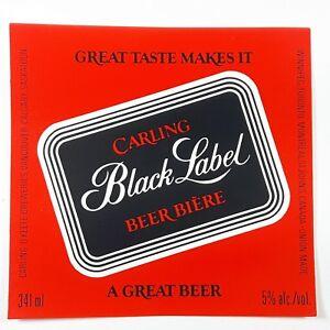 Carling Black Label Beer Biere Bottle Label Carling O ...