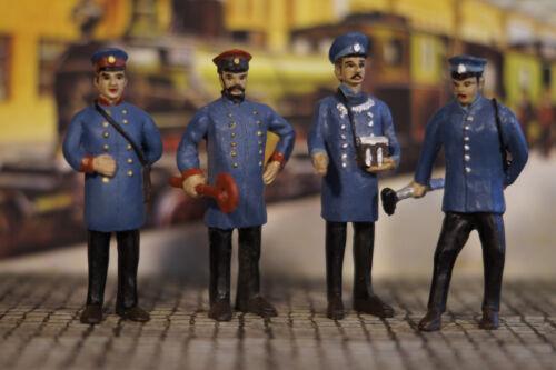4 Figuren Bahnpersonal passend zu LGB 1:22,5