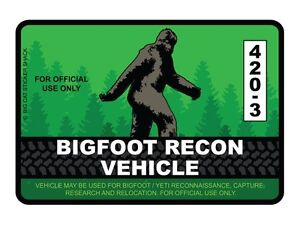 Bigfoot-Recon-Vehicle-Bumper-Sticker