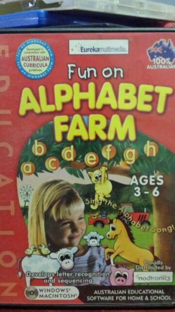 Fun on Alphabet Farm PC GAME -FREE POST *