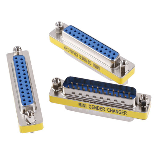 DB25 D-Sub 25pin Connectors Mini Gender Changer Adapter RS232 Serial ConnecPLTR