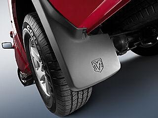 Front /& Rear Dodge Ram Truck Mopar Molded Splash Guards Mud Flaps Set of 4