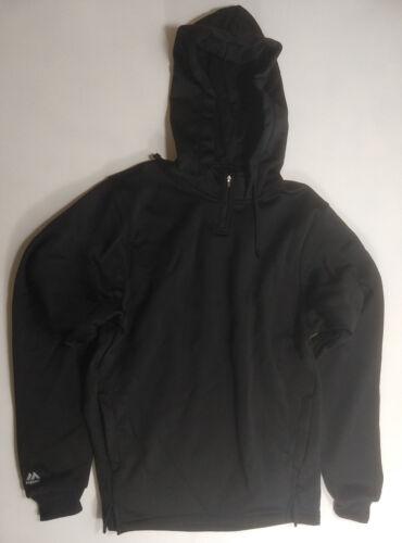 Majestic Men/'s Therma Base Fleece Pullover 1//4 Zip Hoodie Black A161