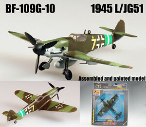 Details about WWII German BF 109G-10 1945 L JG51 aircraft 1/72 no diecast  plane Easy model