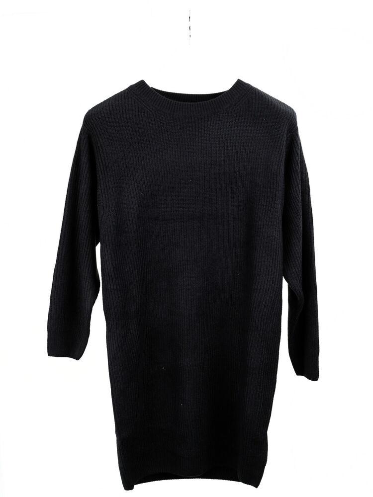 DéVoué New Look Robe Femmes Robes Dress Manches Longues Regular Fit Noir Taille 38 Convient Aux Hommes Et Aux Femmes De Tous âGes En Toutes Saisons