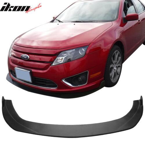 IKON Style Universal Front Bumper Lip Splitter Unpainted PP