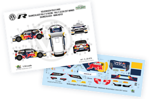 Decals 1//32 VW Polo R WRC  Skoda Rallye Liezen 2017 winner FFSMC Productions