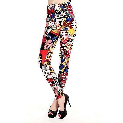 WONDER WOMAN COMIC STRIP Leggings Yoga Pants DC Comics Super Hero Fashion Spandx