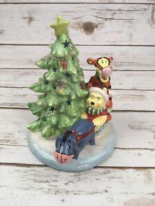 Winnie The Pooh Eeyore Tigger Light Up Glitter Ceramic Christmas