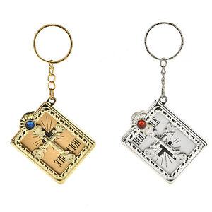 Mini-Bible-Keychain-English-HOLY-BIBLE-Religious-Christian-Jesus-Cover-biena