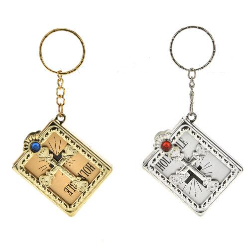 Mini Bible keychain classique religieux chrétien Jésus porte-clés pour prier