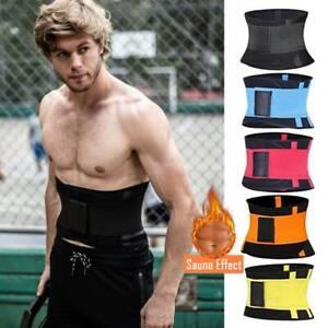Men/'s Waist Trainer Tummy Shapewear Gym Workout Waist Cincher Trimmer Sweat Belt