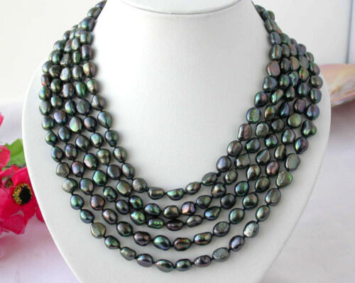 8-9mm South Sea freshwater baroque pearl necklace 100/'/' Multiple Color Choices