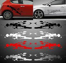 2 X BANDES DECO TACHES SPLASH AUTO 4x4 4WD BEETLE MINI AUTOCOLLANT STICKER BD585