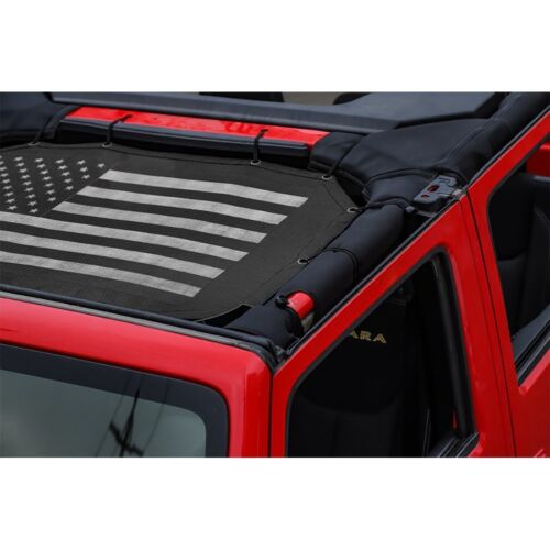 Mesh Shade Top Cover UV Sun Protection for Jeep Wrangler JK 2007-2018 2// 4 Door