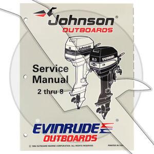 Details about Johnson Evinrude 1997 2hp - 8hp OEM Shop Factory Repair  Service Manual