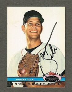 1991 Topps Stadium Club Aaron Sele Draft Pick Autographed, (Inv.#237)