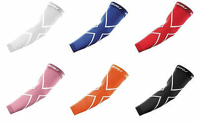 Activewear New 2xu Compression Arm Sleeves Pair Biceps Forearm Pwx Fabric Select Color/size