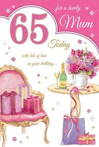 Image Is Loading 65th MUM BIRTHDAY CARD AGE 65 QUALITY