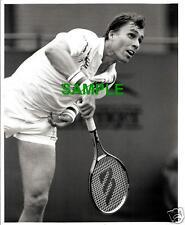 ORIGINAL SPORTS PRESS PHOTO - TENNIS STAR IVAN LENDL IN ACTION - 1980'S