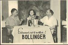 VIETNAM CHAMPAGNE BOLLINGER PUBLICITE 1953