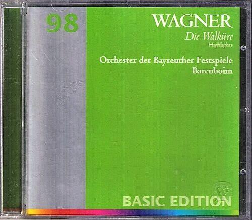 BARENBOIM: WAGNER: DIE WALKÜRE Highlight TOMLINSON 1CD Matthias Hölle Secunde