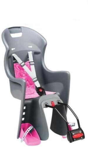 Polisport Fahrrad Kindersitz Boodie grau pink Kindersitz Fahrradsitz Sitz Neu