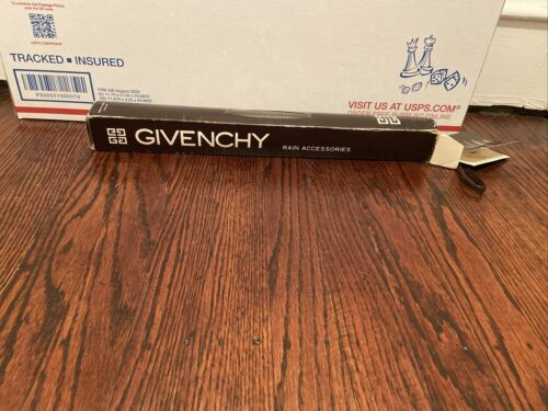 Vintage Givenchy One Touch Automatic Umbrella W T… - image 1