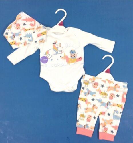 Nouveau bébé fille 3 pièces Licorne Ensemble bébé Cadeau 0-3 mois. tenue d/'été